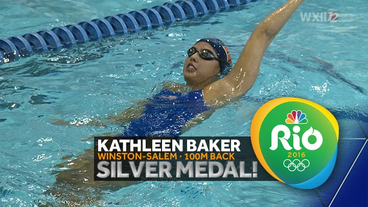 WAY TO GO! Congrats @KathleenBaker2 for winning SILVER in the 100m Backstroke! #Rio2016 https://t.co/d0uWRxDwNF