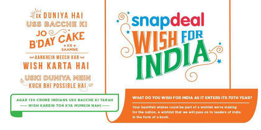 Snapdeal On Twitter Tell Us What You Wish For India And Snapdeal