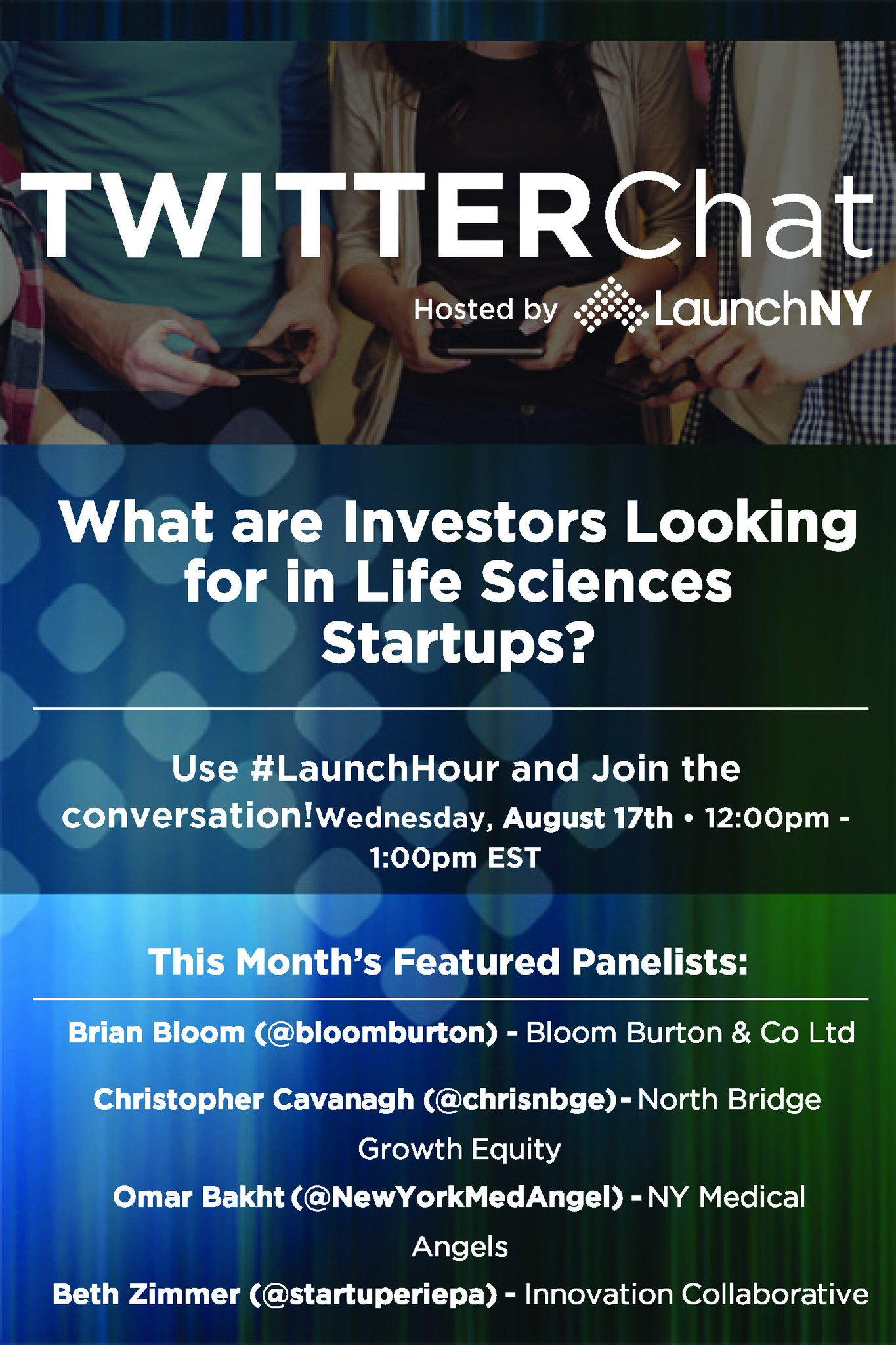 Who's joining us tomorrow for #LaunchHour? Sure to be a great chat for #LifeSciences #Startups https://t.co/5b6S9sgJfI