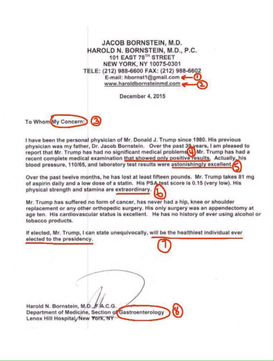 "Tanya on Twitter: ""Trump's ""medical records"" is a letter ..."