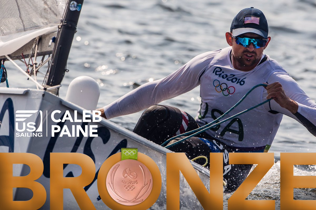 FINN #Rio2016: Caleb Paine #USA @CPaine_Sailing WINS BRONZE FOR THE UNITED STATES and @TeamUSA