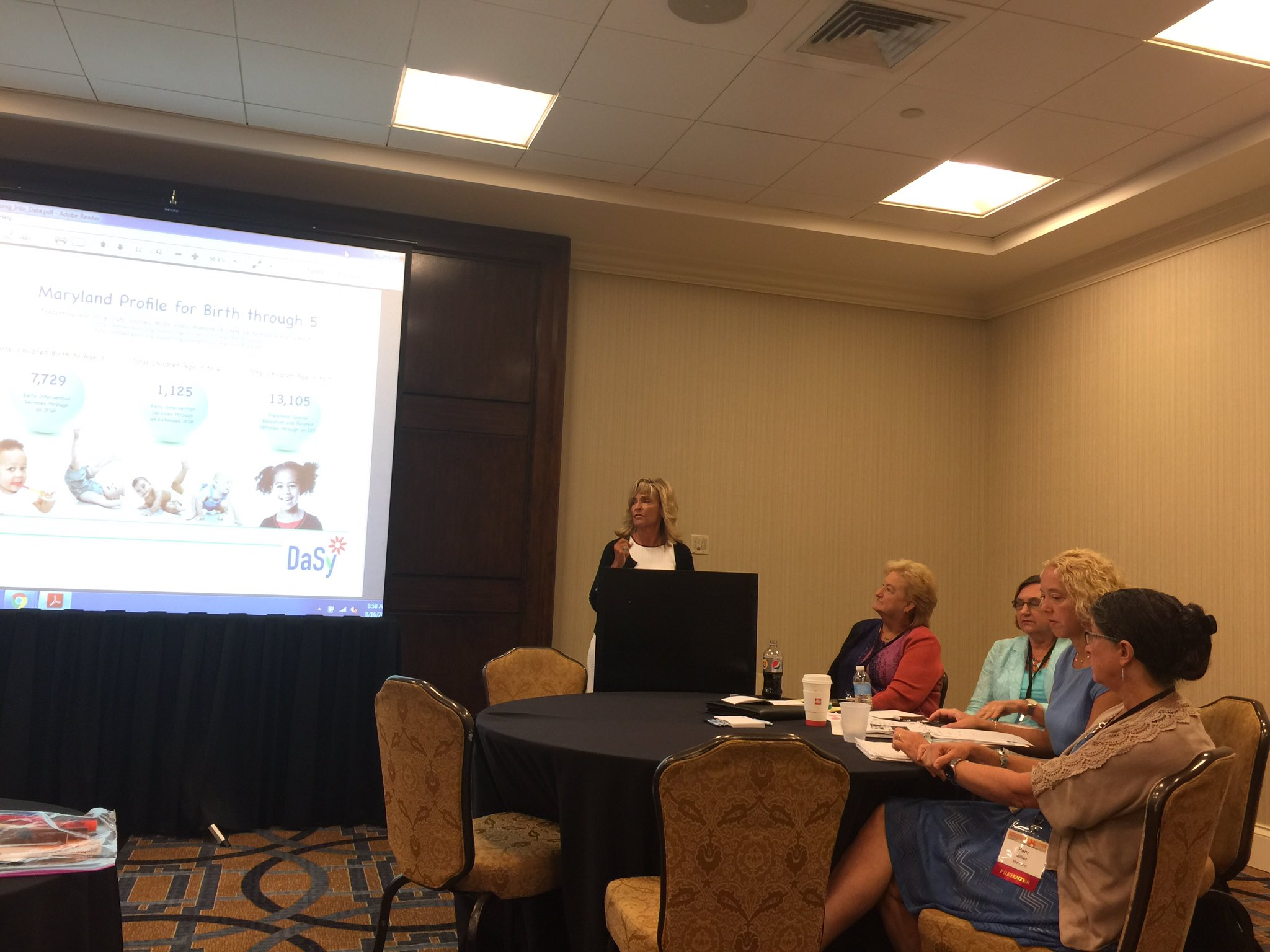 """Marcella Franczkowski and @JHU_CTE presenting """"Tapping into Data to Make a Difference"""" #ECIDEA16 https://t.co/j1eBvruaEm"""