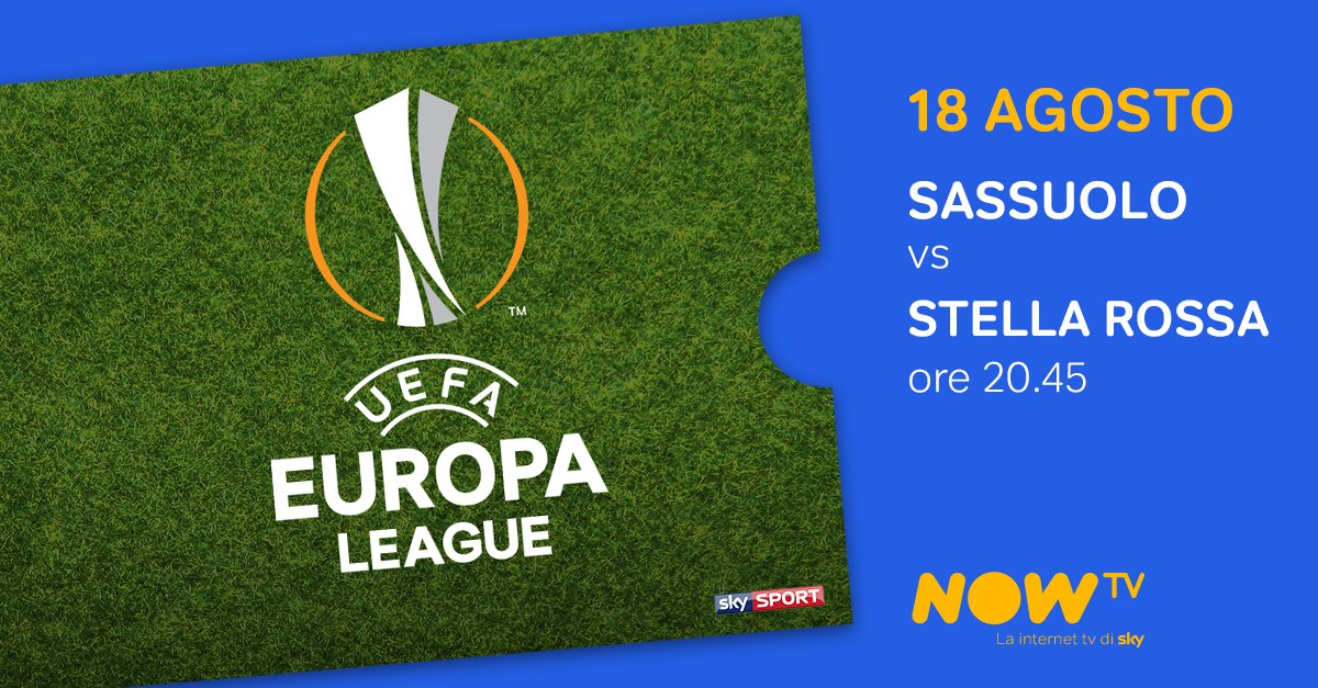Sassuolo-Stella Rossa Streaming Rojadirecta Diretta Now TV, 4° turno preliminari Europa League 2016-17