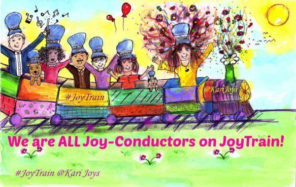 Welcome Aboard!  We are ALL #JOY-Conductors on #JoyTrain! >    Lovely #Art ~@papemoe1 #Love #Kindness #Quote #kjoys00 #MentalHealth #Mindfulness #GoldenHearts #IAM #ChooseLove #TuesdayMorning #TuesdayThoughts #TuesdayMotivation