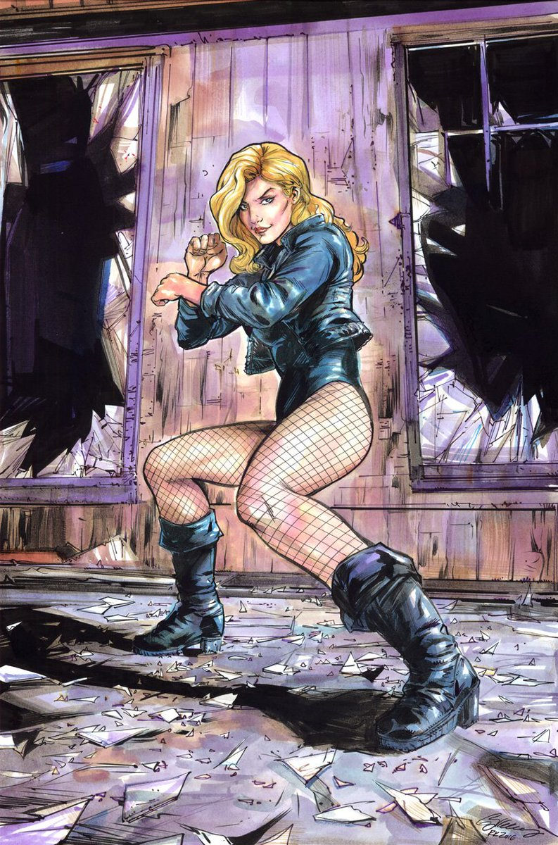 Black Canary. Inks, watercolors, acrylics, stuff. #commissions https://t.co/9c2eGcYRk2