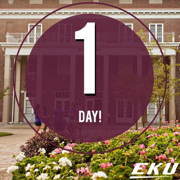 #EKU20, tomorrow is move in day! #CampusBeautiful https://t.co/OjJ9JYrWDU