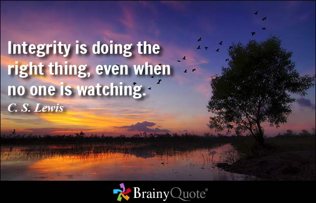 "BrainyQuote On Twitter: ""Integrity Is Doing The Right"