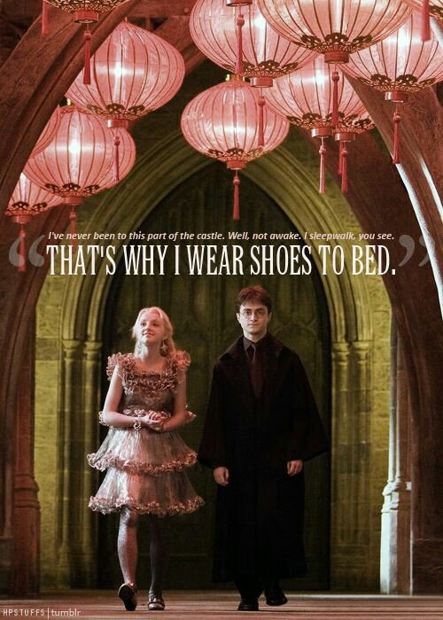 Luna Lovegood Quotes Awesome Harry Potter Quotes On Twitter That's Why I Wear Shoes To Bed