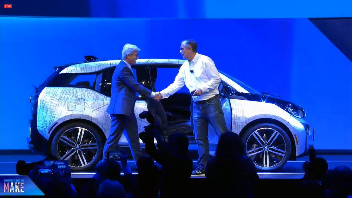 Autonomous vehicles like BMW's will use data analytics and machine learning to improve themselves. #IDF16 https://t.co/J6nGw6wViC