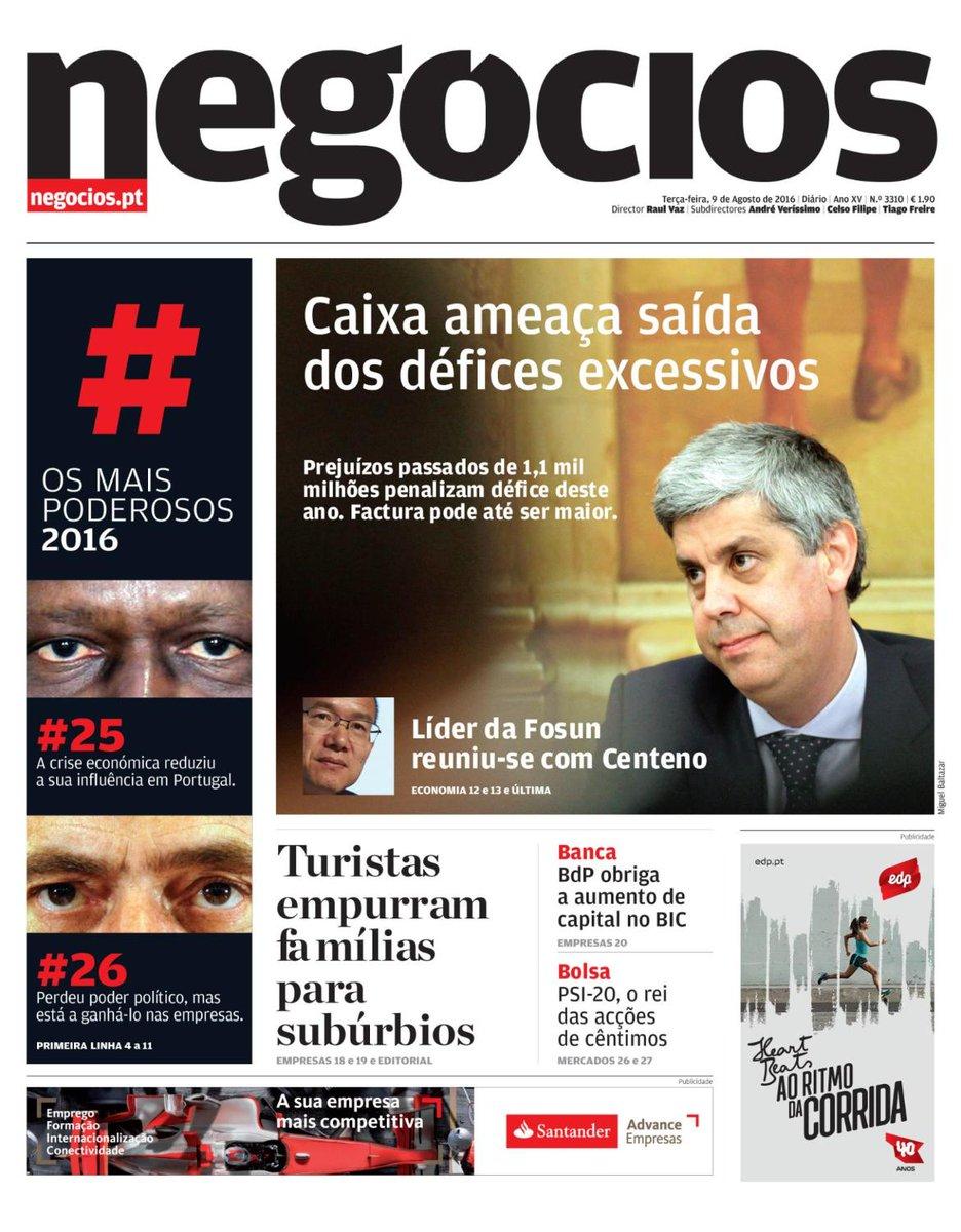 A #Capa do #JNegocios de hoje #9Agosto Acompanhe todas as notícias em https://t.co/6iLMUs2Ofh