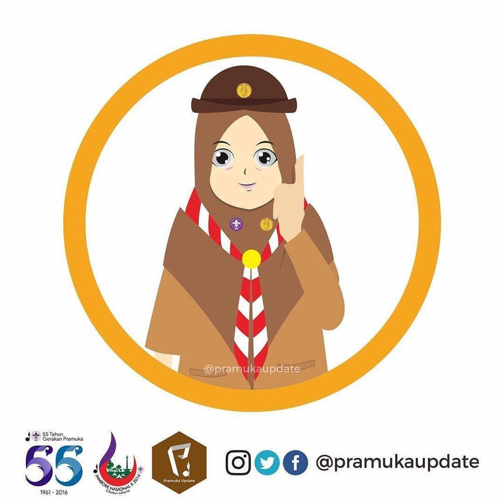 85 Koleksi Gambar Kartun Muslim Pramuka HD Terbaik