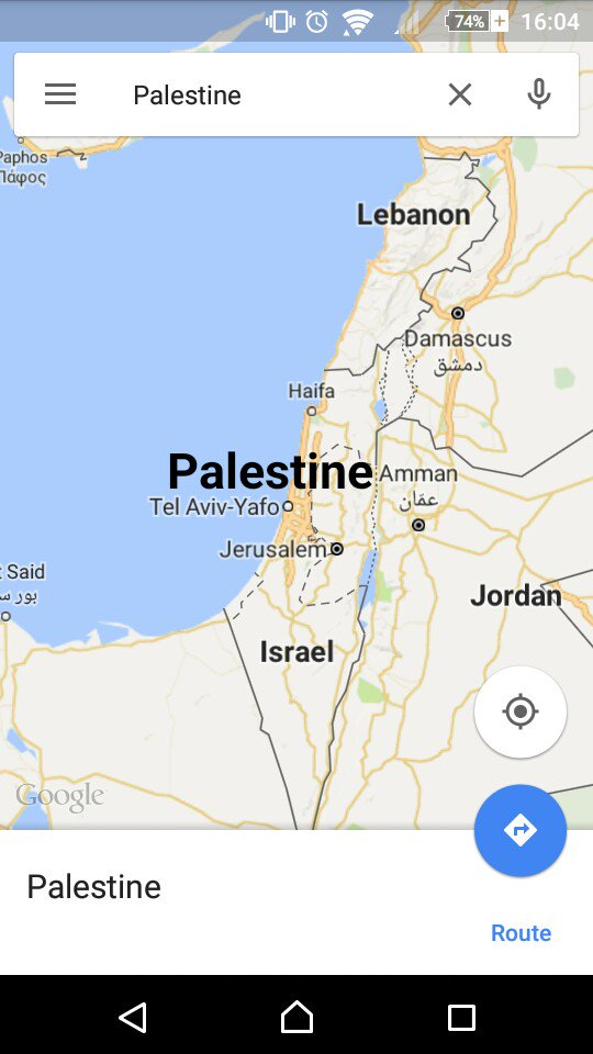 Google Maps accused of deleting Palestine – but the truth is ... on masada map google, guyana map google, hungary map google, nauru map google, swaziland map google, trinidad and tobago map google, venezuela map google, vatican city map google, anguilla map google, monaco map google, bermuda map google, belarus map google, arabian peninsula map google, congo map google, uzbekistan map google, corinth map google, byzantine empire map google, baghdad map google, cook islands map google, georgia map google,