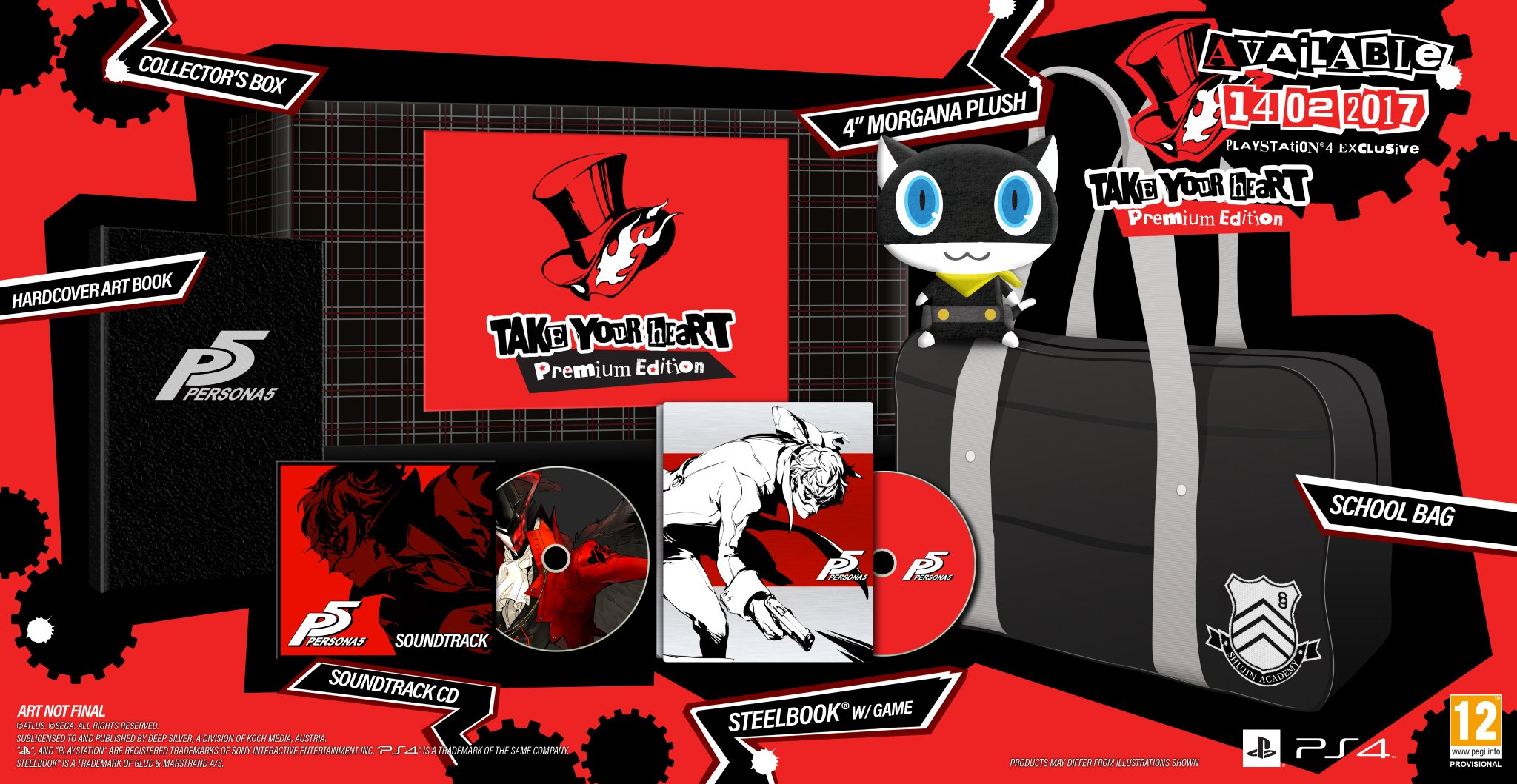 Official Deep Silver On Twitter Persona 5 Will Release In Europe Game Ps4 Region 3 English Pal Countries February 14 2017 Steelbook And Premium Editions Check