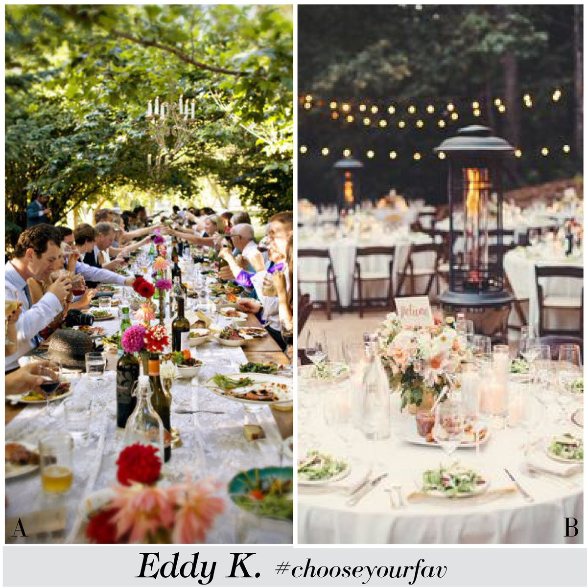 Eddy K On Twitter Long Tables Family Style Or Round Tables Wedding