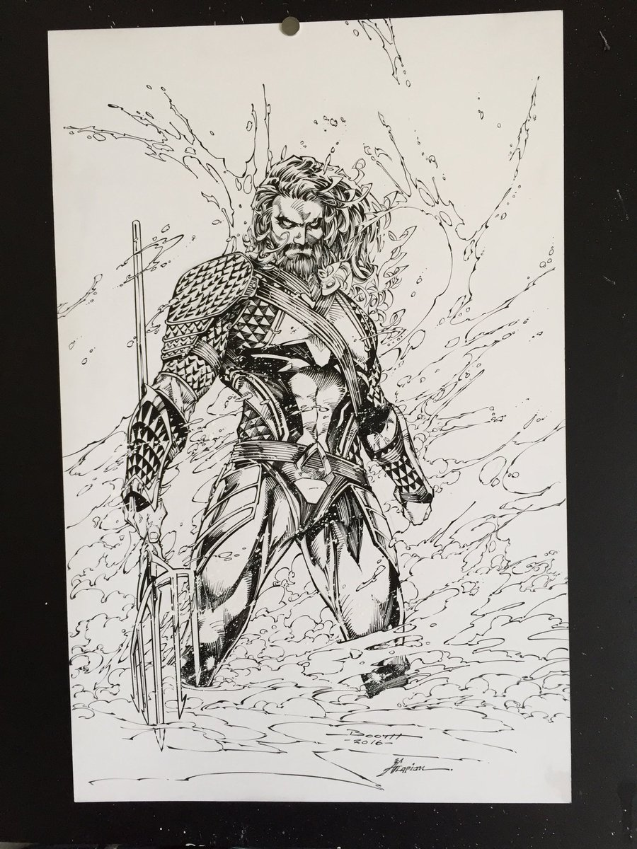 Finished @Demonpuppy #Aquaman commission. Moving on.... https://t.co/UP45rdK07M