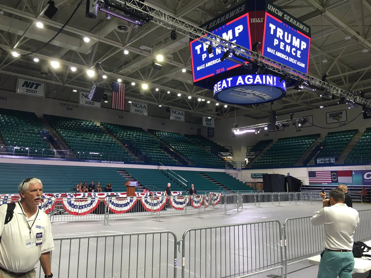 The stage is set for @realDonaldTrump. #ilm #TrumpILM