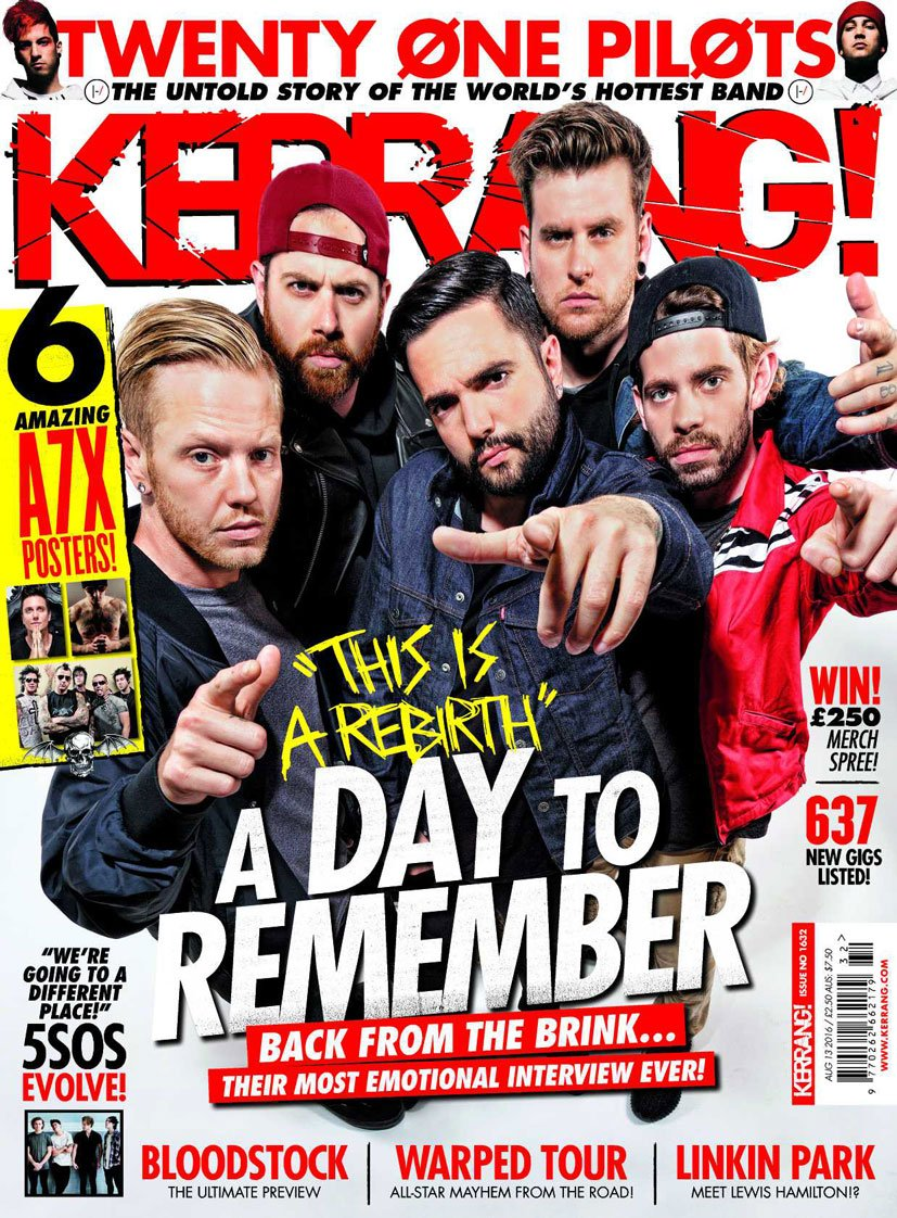 Kerrang magazine on twitter this weeks issue a day to remember 814 am 9 aug 2016 m4hsunfo