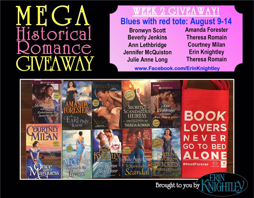 Week 2 of 6 of the Mega Historical Romance Giveaway starts NOW! Go to https://t.co/AGtaJGul8I to enter ☺️