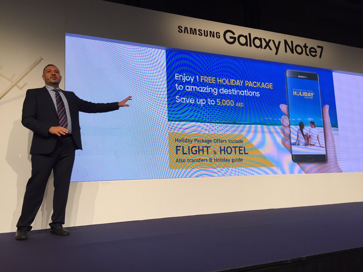 @SamsungGulf partnered up with @HolidayFactory1 and now with every Note 7, u get a free Holiday Package #GalaxyNote7 https://t.co/IG5KiRbh7W