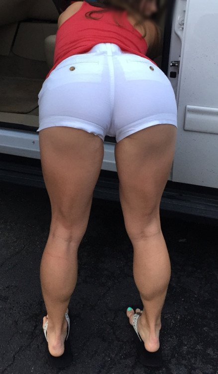 Milf in tight shorts