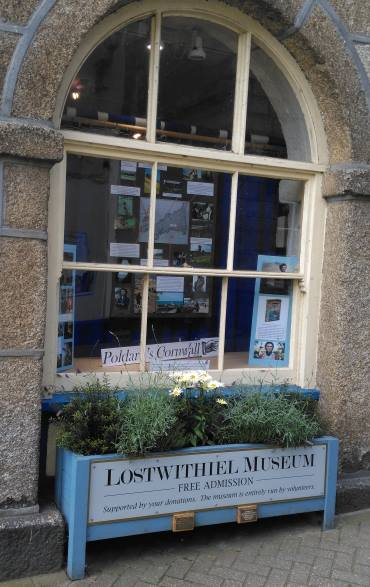 Lostwithiel Museum Poldark Window Display