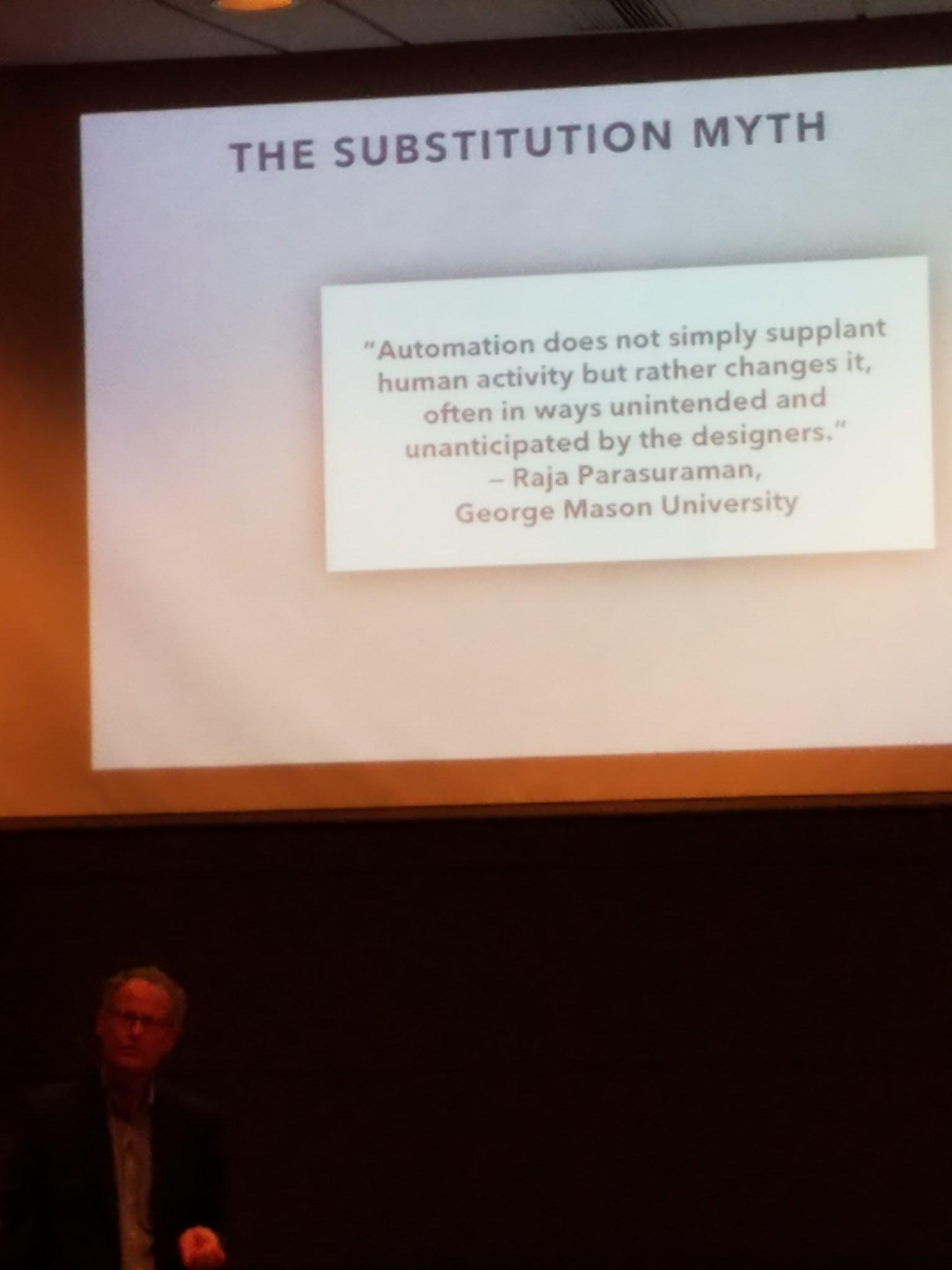Substitution myth #NicholasCarr #CAST2016 https://t.co/B2LRECUlQg