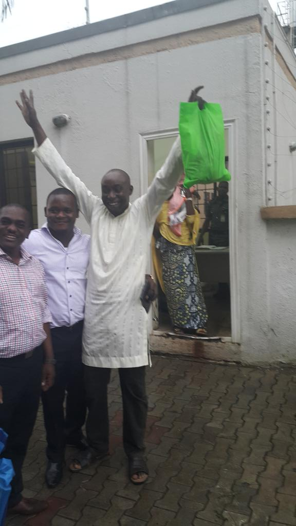 PHOTOS: EFCC Releases Blogger Abusidiq