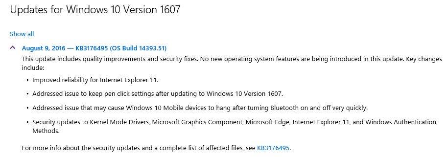KB3176495 out - Microsoft Community