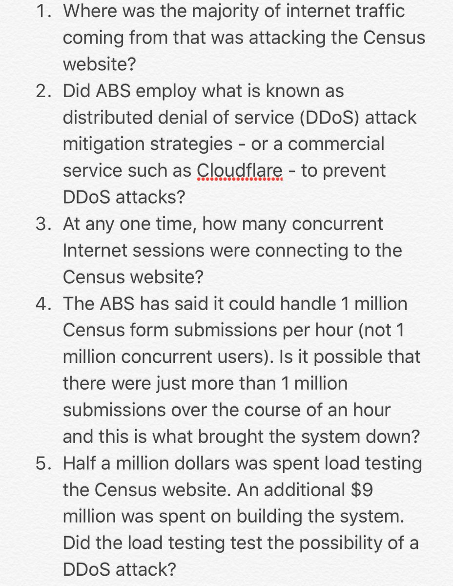 Questions for Canberra journos to ask ABS and its minister this morning. Personally, not buying DDoS until proven. https://t.co/V9w2gHzFe1