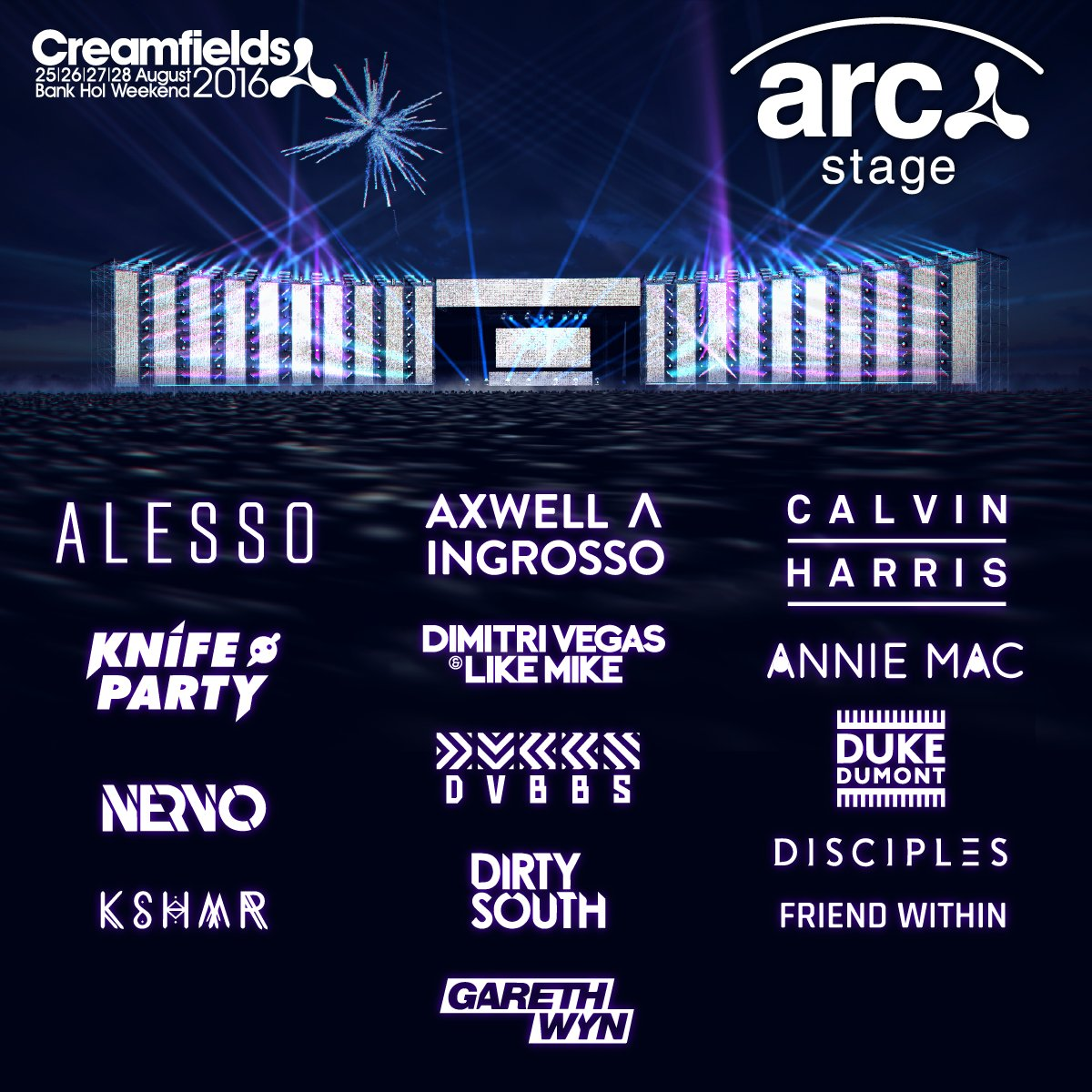 Arc Stage Lineup