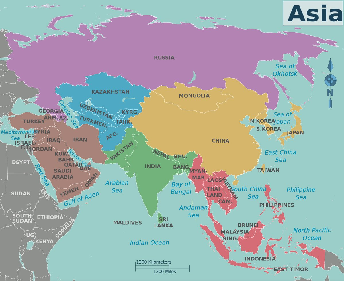 Tina Marie on Twitter Map of Asia showing Countries httpstco