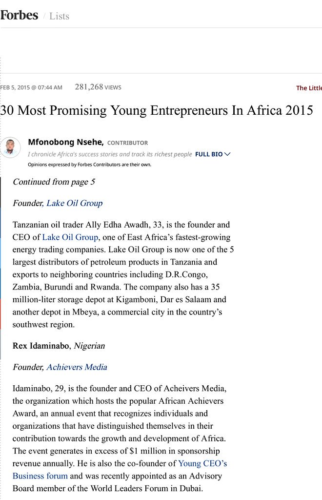 Facts About Africa On Twitter 1 Rex Idaminabo Founder African  Reading Specialist Resume