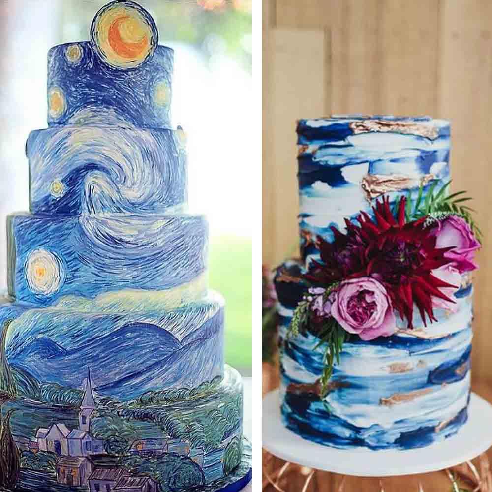 Los #pastelesdebodas artísticos salen de lo común y hablan del espíritu de los agasajados! pic.twitter.com/4RTp3Ws3l0