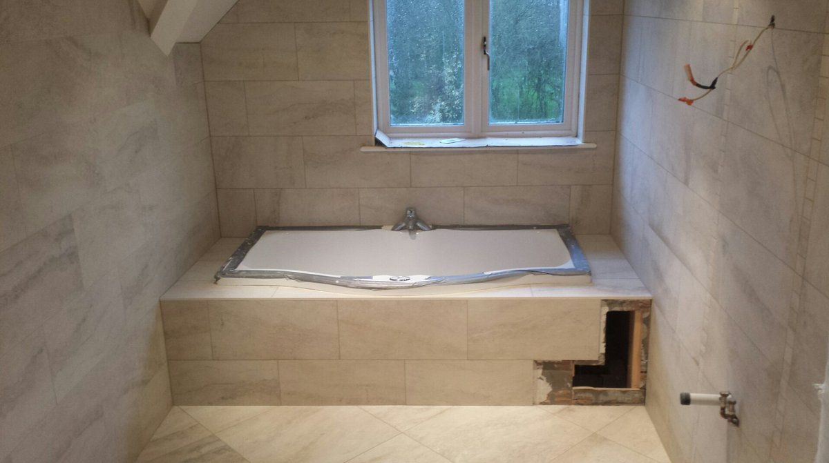 M s tiling on twitter quottiled in bath with tiled access for Tiled access panels bathroom