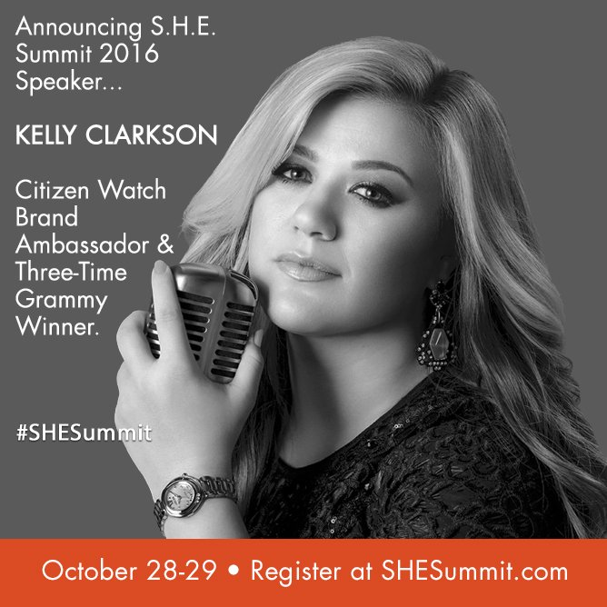 Who else is excited to hear @kellyclarkson speak at #SHESummit?! https://t.co/Tf0bnfMwak