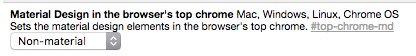 "Disable that horrible ""Material design"" in the latest Google Chrome via 'chrome://flags', ⌘ + F for ""Material"" › https://t.co/eslmZlIsl7"