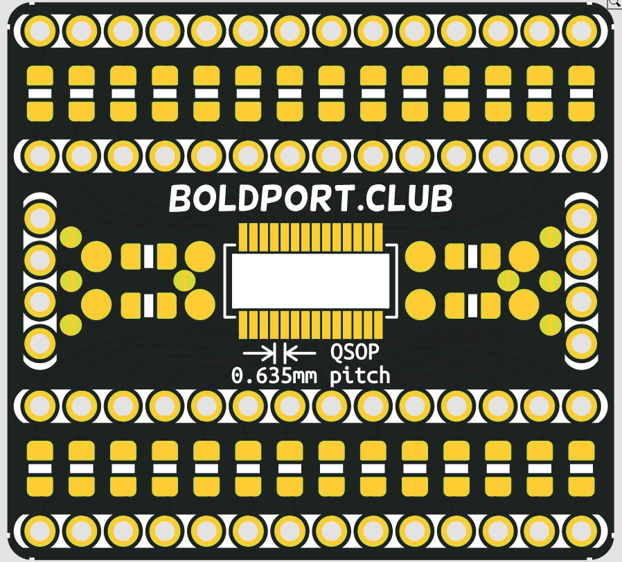 Just ordered a bunch of these QSOP practice/breakouts from @eC_PCB. Will be available for #BoldportClub members.