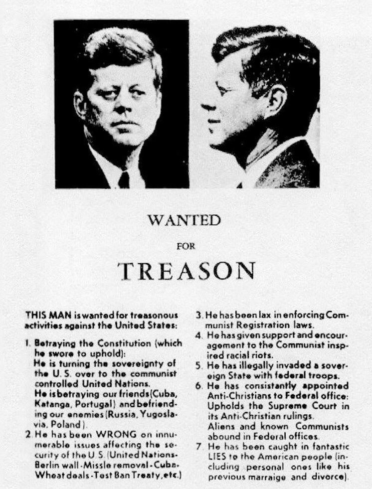Rhetoric, consequences. 5000 copies of this flyer were distributed in Dallas before JFK's Nov 1963 visit https://t.co/JyzHrmwWOB