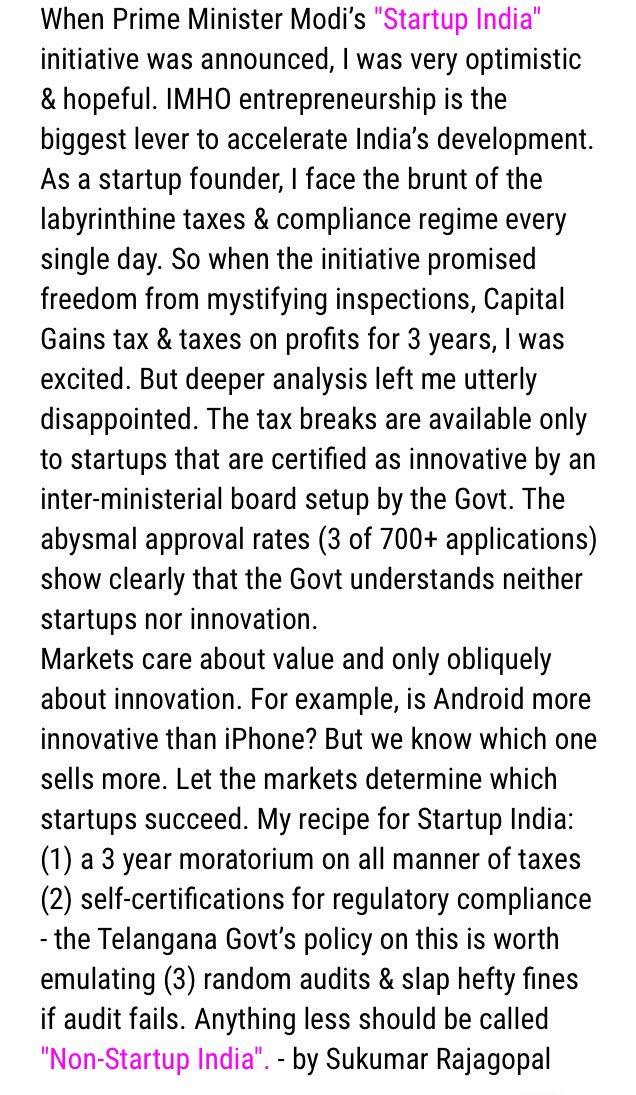 Startup India - my latest mini blog post https://t.co/q5yjVeZnvk