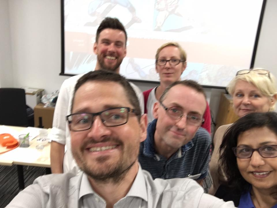 some Jiscers yesterday @ SOSI sprint #studentideas @andystew @cbthomson @JuliaTaylorJisc @shrifootring @zoesi27 https://t.co/RvJ55bagGH