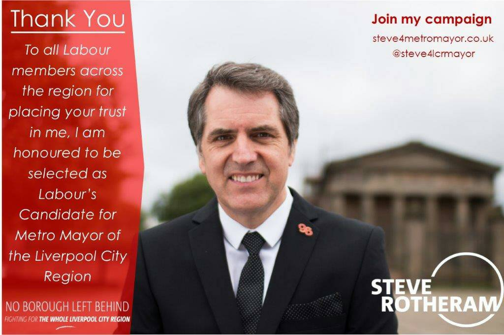 Incredibly humbled to be selected as Labour's candidate for Metro Mayor. Thank you to everybody who supported me. https://t.co/QYFQXGIIId
