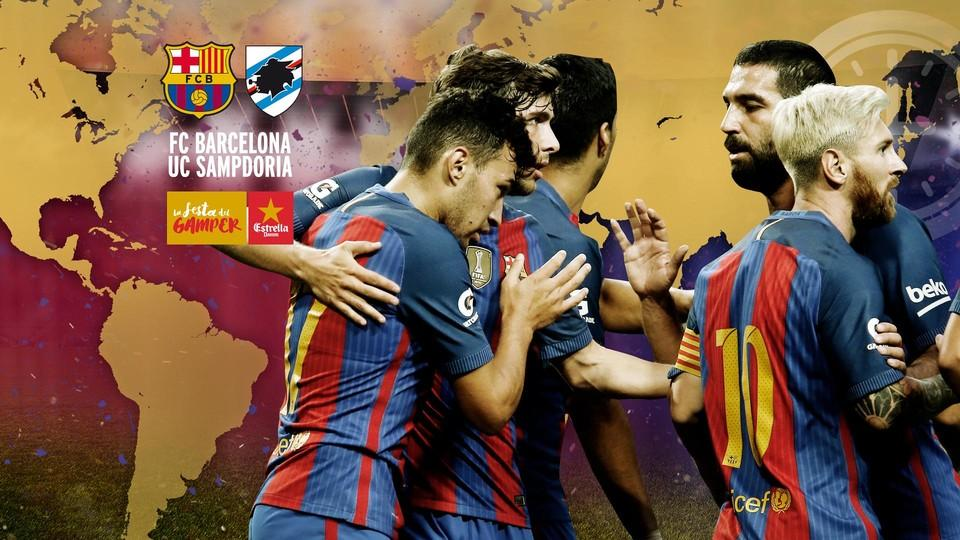 Vedere BARCELLONA SAMPDORIA Diretta Streaming Rojadirecta: come vedere Video TV gratis con iPhone Tablet e PC Live Oggi10 agosto 2016