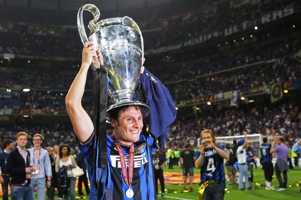 """Classic Football on Twitter """"Javier Zanetti with the UCL trophy"""