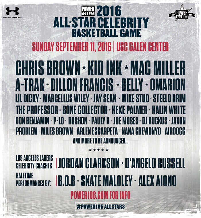 Tixs for our #power106allstars bball game are on sale NOW here: https://t.co/cqqBbUsu66 These celebs will be there: https://t.co/KTNiOe8O4T