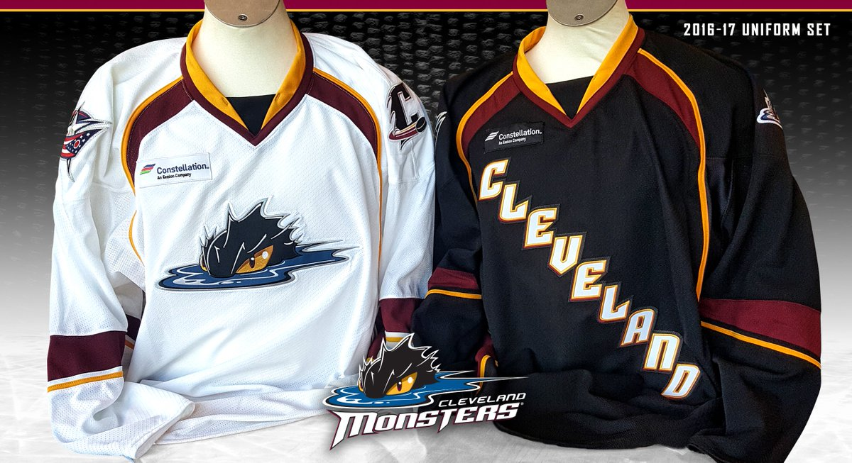 Here is a closer look at the new  CLEMonsters home and away uniforms! ... 587a36dfe