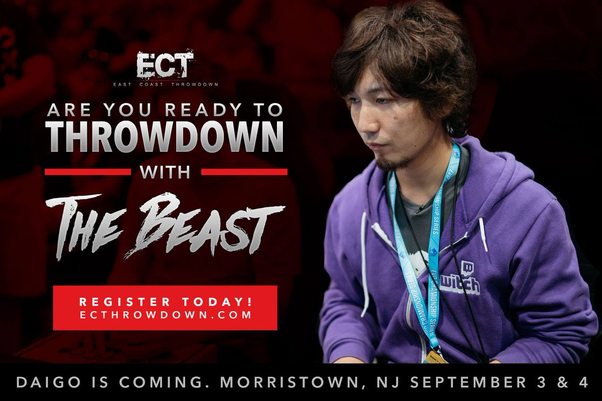 We are proud to announce @daigothebeast will be in attendance at #ECT2016 RT @thisislijoe @PVPLive @ultradavid https://t.co/8uODNTXPFl