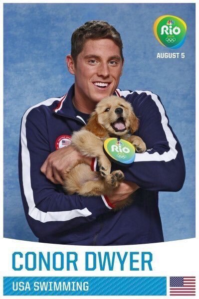 U.S. Olympic Swimmers with puppies, nothing better �� https://t.co/k7vPWqSQ9O