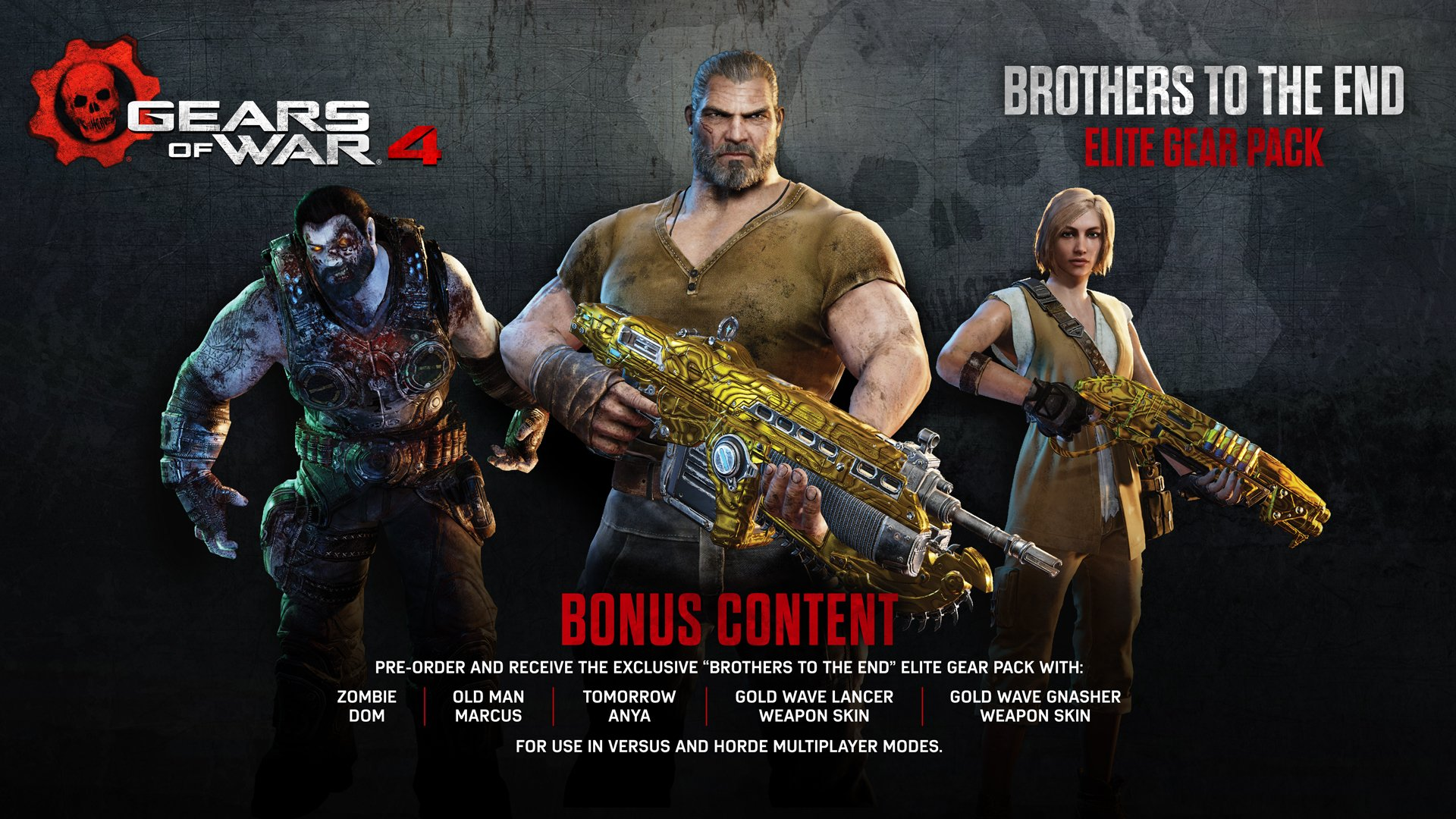Gears of War 4 Brothers to the End Elite Gear Pack