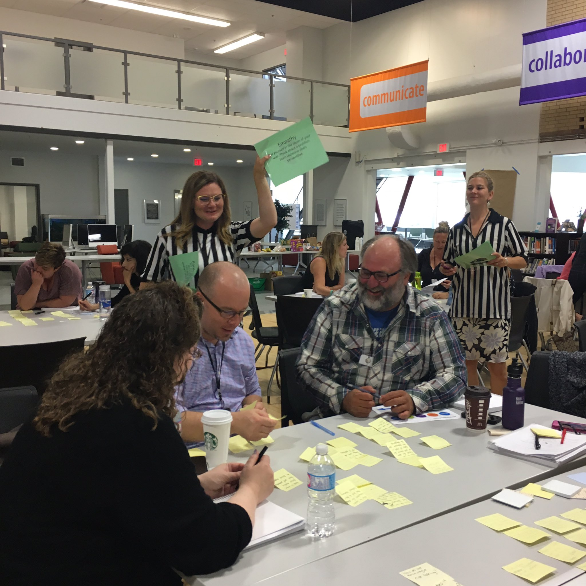 Mindset referees highlighting design thinking mindsets. Becoming aware of new mindsets as we apply them #cbeshift https://t.co/wMMVIzYCQ6