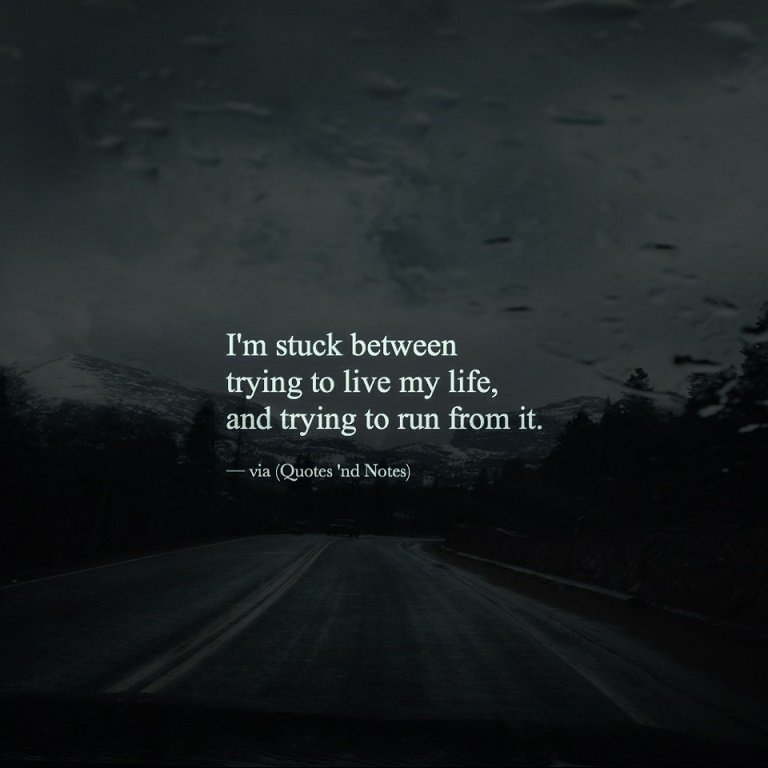 """Living My Life Quotes: Quotes 'nd Notes On Twitter: """"I'm Stuck Between Trying To"""